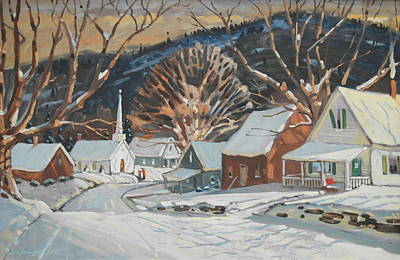 Painting - Southern Vermont Village by Len Stomski