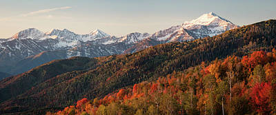 Photograph - Southern Wasatch Pano by Johnny Adolphson