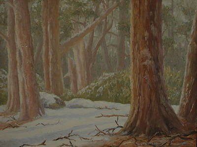 Painting - Southern Winter Nz 1976 by Terry Perham
