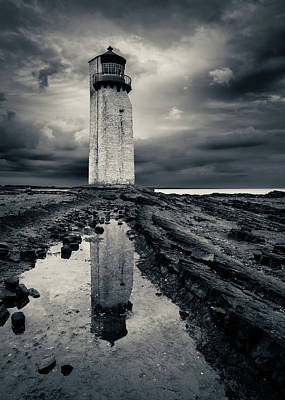 Photograph - Southerness Lighthouse by Dave Bowman