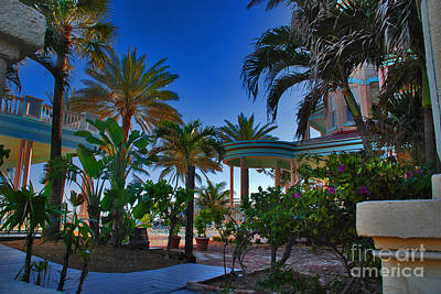 Southernmost Lush Garden In Key West Print by Susanne Van Hulst