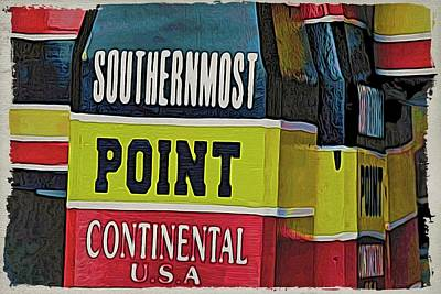 Photograph - Southernmost Point Colors by Alice Gipson