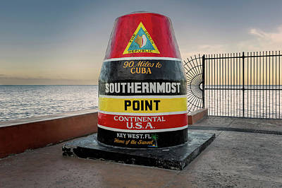 Southernmost Point Key West At Seven In The Morning   -   Southernmostpoint121322 Art Print