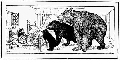 Goldilocks Photograph - Southey: Three Bears, 1892 by Granger