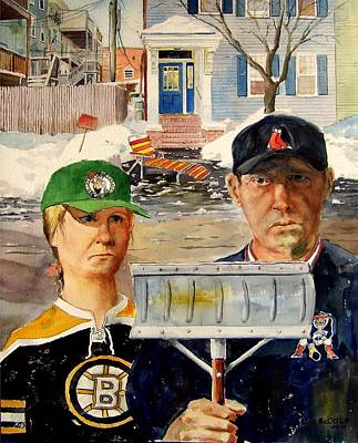 Red Sox Painting - Southie Gothic by Dan McCole