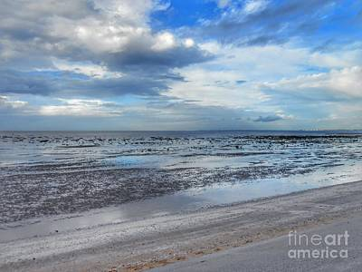Photograph - Southport Beach Infinity Blue by Joan-Violet Stretch