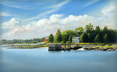 Painting - Southport Harbor by John Deecken