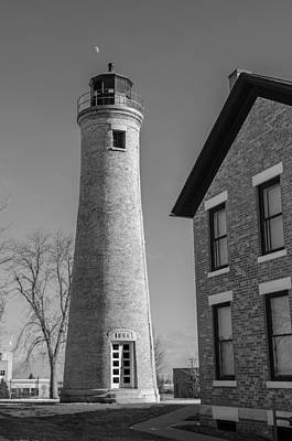 Photograph - Southport Lighthouse - Bw by Susan McMenamin