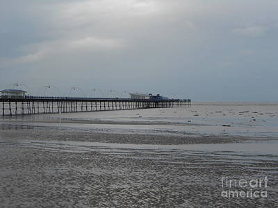 Photograph - Southport Pier Beach View by Joan-Violet Stretch