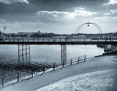 Photograph - Southport Pier In Cyantone by Joan-Violet Stretch