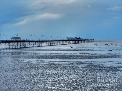 Photograph - Southport Pier Infinity Blue 2 by Joan-Violet Stretch