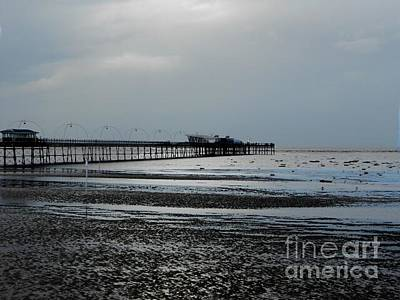 Photograph - Southport Pier Infinity Blue by Joan-Violet Stretch