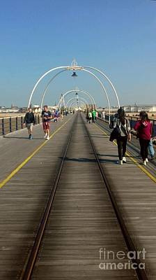 Photograph - Southport Pier Walkway by Joan-Violet Stretch