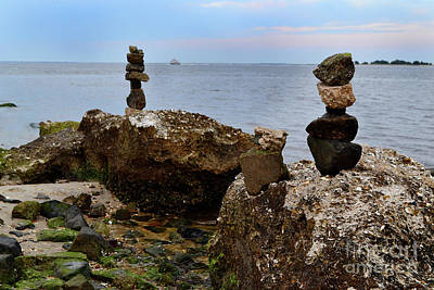 Photograph - Southport Rock Art by Amy Lucid