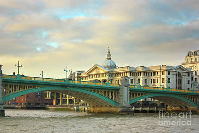 Photograph - Southwark Bridge And St Paul's Cathedral by Terri Waters