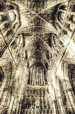 Photograph - Southwark Cathedral London Vintage by David Pyatt