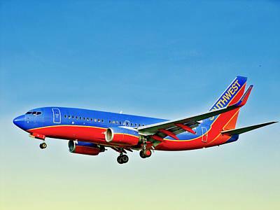 Southwest 737-700 Art Print