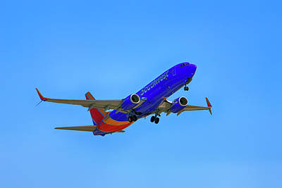 Photograph - Southwest 737 by Chris Smith