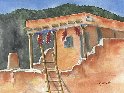 Southwest Indians Painting - Southwest Adobe by Marsha Elliott