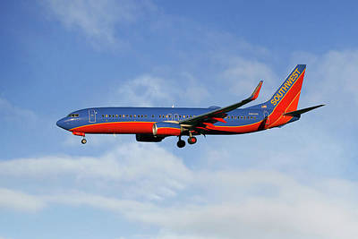 Southwest Airlines Boeing 737-8h4 Art Print