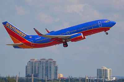 Photograph - Southwest Airlines by Dart and Suze Humeston