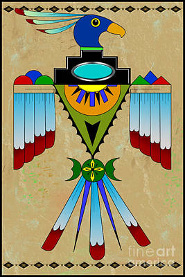 Digital Art - Southwest Bird Symbol by Tim Hightower