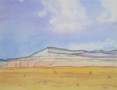 Abiquiu Painting - Southwest Cliffs by Cynthia Schoeppel