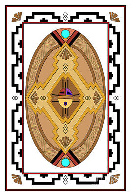 Digital Art - Southwest Collection - Oval Design by Tim Hightower