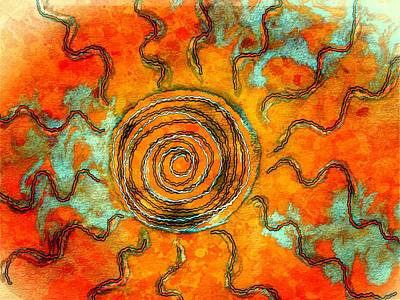 Digital Art - Southwest Desert Sun by Barbara Chichester