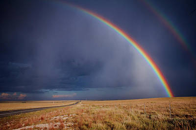 Photograph - Southwest Double Rainbow by Steven Bateson