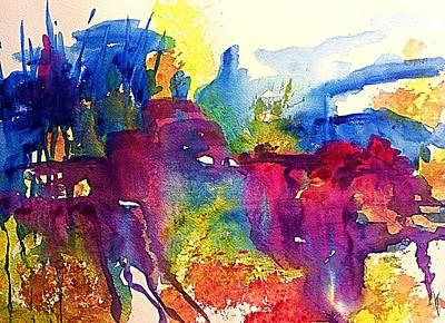 Brilliant Painting - Southwest Dreaming  by Ellen Levinson