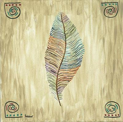 Painting - Southwest Feather by Susie WEBER