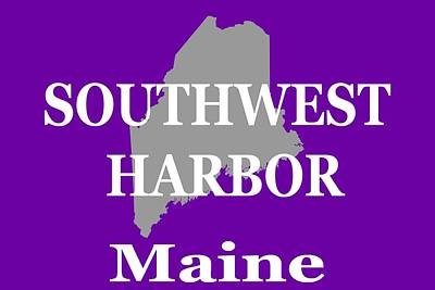 Art Print featuring the photograph Southwest Harbor Maine State City And Town Pride  by Keith Webber Jr