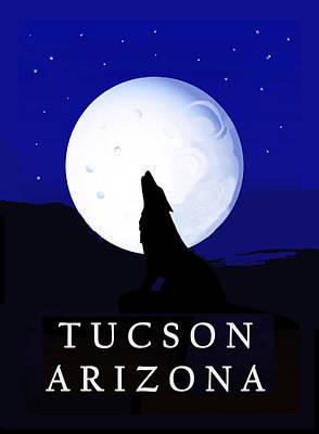 Digital Art - Southwest Howlin' Coyote by Vagabond Folk Art - Virginia Vivier