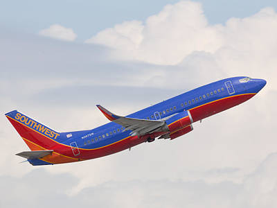 Photograph - Southwest Jet by Dart and Suze Humeston