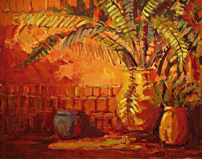 Terra Painting - Southwest Pots by Brian Simons