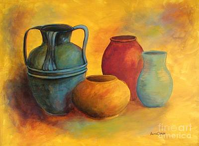 Painting - Southwest Pottery by Anita Carden