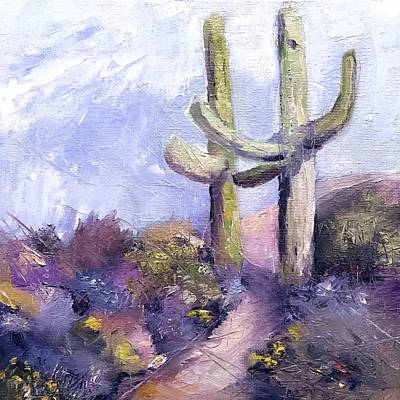 Painting - Southwest Saguaros  by Michele Carter
