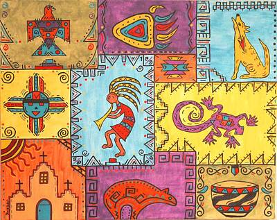 Southwest Sampler Art Print by Susie WEBER