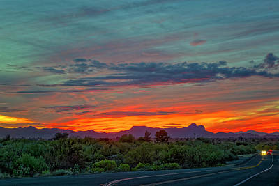 Photograph - Southwest Sunset H1836 by Mark Myhaver