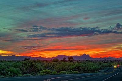 Mark Myhaver Rights Managed Images - Southwest Sunset h1836 Royalty-Free Image by Mark Myhaver