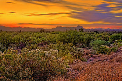 Mark Myhaver Rights Managed Images - Southwest Sunset h26 Royalty-Free Image by Mark Myhaver