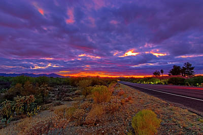 Photograph - Southwest Sunset H344 by Mark Myhaver
