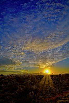 Mark Myhaver Royalty Free Images - Southwest Sunset h39 Royalty-Free Image by Mark Myhaver