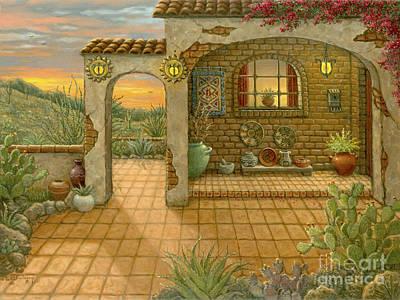 Painting - Southwest Sunset by Janet  Kruskamp