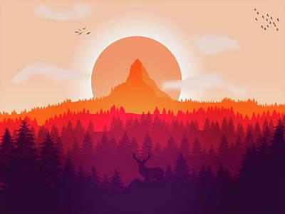 Rural Art Mixed Media - Southwest Sunset by Pixabay