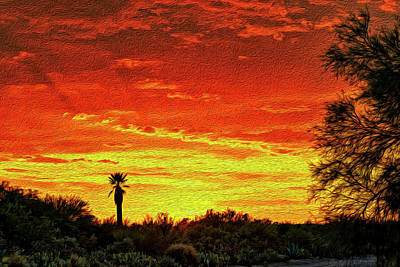 Mark Myhaver Rights Managed Images - Southwest Sunset op14 Royalty-Free Image by Mark Myhaver
