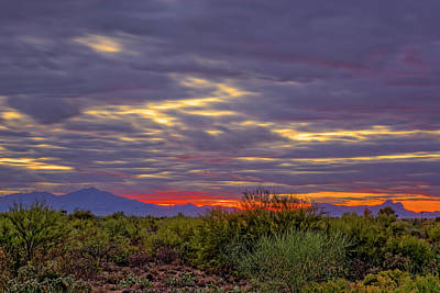 Mark Myhaver Rights Managed Images - Southwest Sunset v1816 Royalty-Free Image by Mark Myhaver