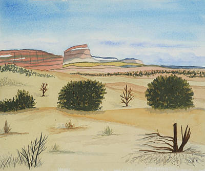 Abiquiu Painting - Southwest Vista #2 From Ghost Ranch by Cynthia Schoeppel