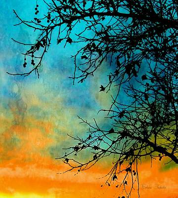 Painting - Southwest Winter Sunset Silhouette by Barbara Chichester